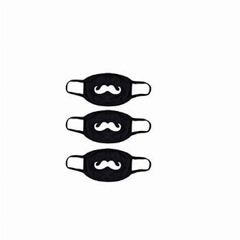 3 Pack Cute Mustache Pattern Masks for Party Halloween