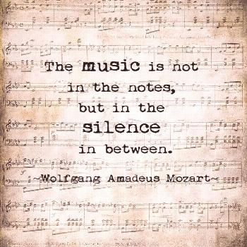 A heavenly Music quote from Mozart. *** Please use the drop down menu to the right of the photo to