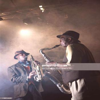 African American Musicians Playing In Jazz Band On Stage Photography ,