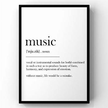 Music Definition Print, Wall Art Print,Definition Poster,