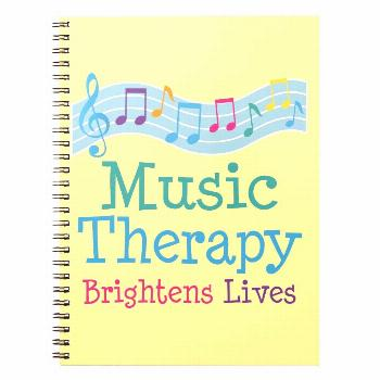 Music Therapy Brightens Lives Notebook Music notebook for the music therapist or client has colorfu