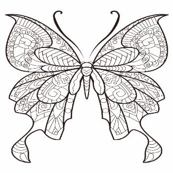This adult coloring book with beautiful butterfly pictures to color is very easy to use. Multiple c