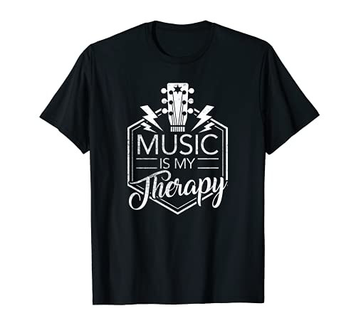 Music is my Therapy T-Shirt - Guitar Rock Music Gift T-Shirt